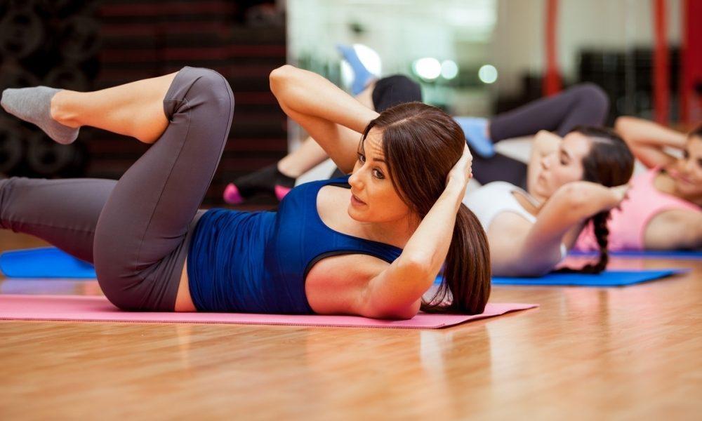 На занятиях фитнесом
