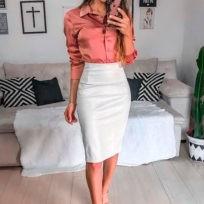 Боди-рубашка и юбка-карандаш