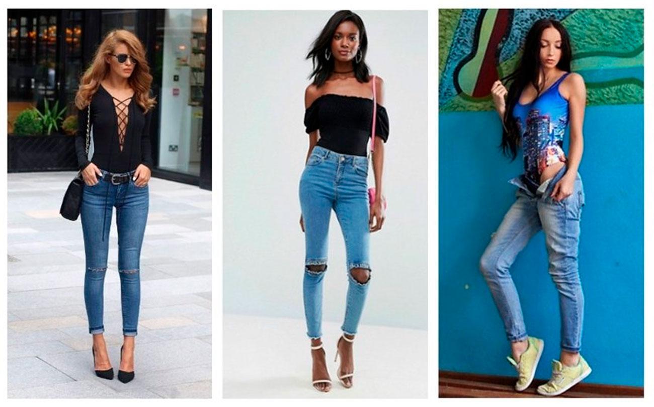 Боди с джинсами