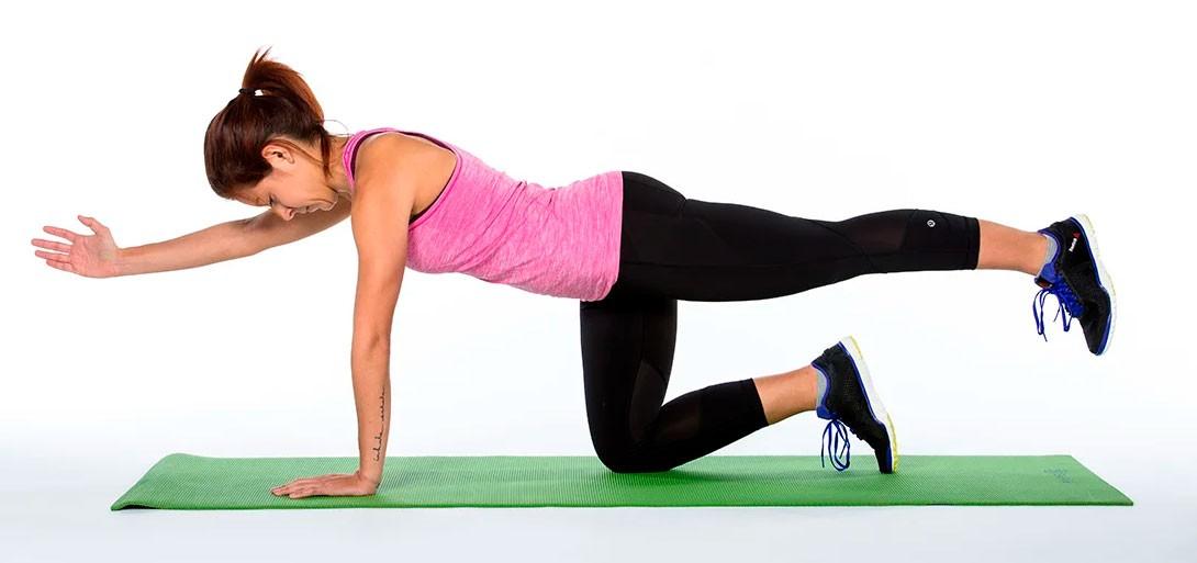 """Упражнение для спины """"Диагональ"""""""