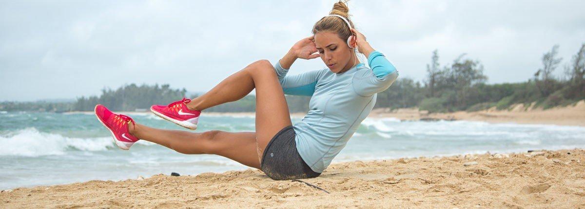 Упражнения на пляже