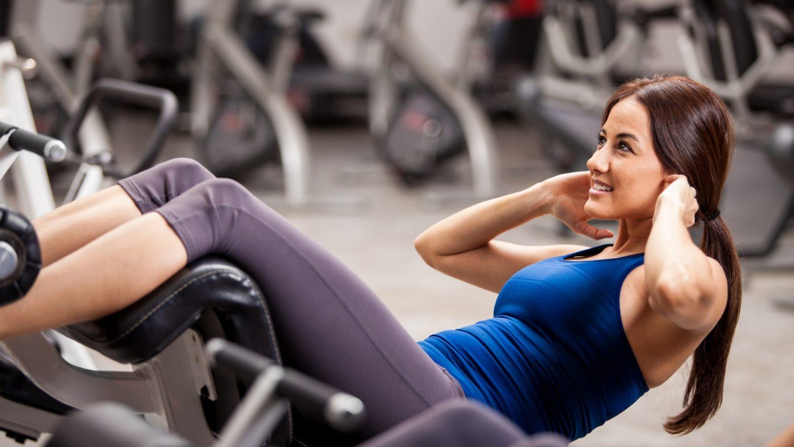В фитнес зале