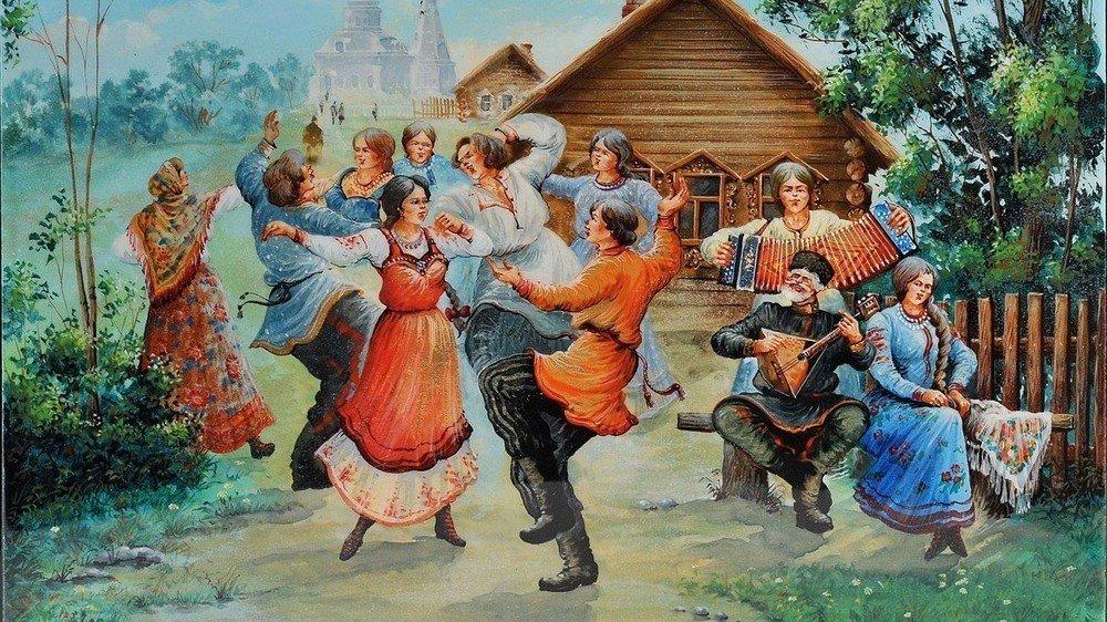 Популярные танцы: русская пляска